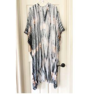 Stylepark1 | Maxi Length Tie Dye Kimono